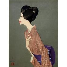 Takasawa Keiichi: Portrait of a Woman Wearing a Kimono — 着物の婦人像 - Japanese Art Open Database