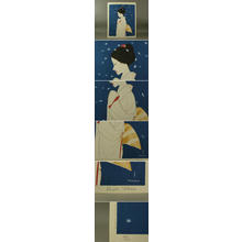 Takasawa Keiichi: Woman and Snowflakes - Japanese Art Open Database