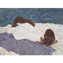 Takasawa Keiichi: Woman and Woman- oil painting — 女と女 - Japanese Art Open Database