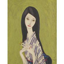 Takasawa Keiichi: Woman in Kimono — 着物の女 - Japanese Art Open Database