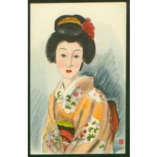 Takasawa Keiichi: Young Bijin in Kimono - Japanese Art Open Database