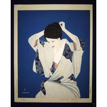 Takasawa Keiichi: Young Woman Dressing - Japanese Art Open Database