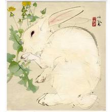 Takeuchi Seiho: Rabbit eating - Japanese Art Open Database