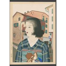 Taki Shuho: Japanese girl in a western port city - Japanese Art Open Database