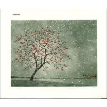 Tanaka Ryohei: Persimmon in Snow - Japanese Art Open Database