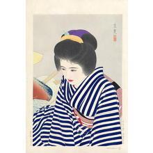 Tatsumi Shimura: Late Summer - Natsu Takete — 夏たけて - Japanese Art Open Database