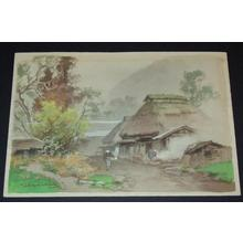 Terauchi Fukutaro: Old farmhouse - Japanese Art Open Database