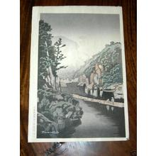 Terauchi Fukutaro: Valley Scenery 1 - Japanese Art Open Database