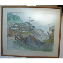 Terauchi H: Country village scene - Japanese Art Open Database