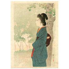 Tsukioka Kogyo: Beauty and Red Maple - Japanese Art Open Database