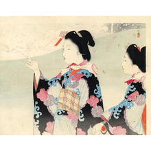 Tsukioka Kogyo: Two Bijin - Japanese Art Open Database