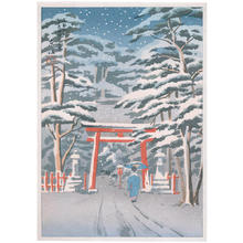 Toko: Yoshida Shrine in Snow - Japanese Art Open Database