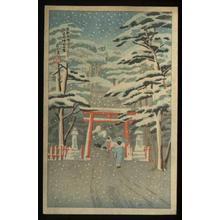 Toko: Snow at Yoshida Jinja - Japanese Art Open Database