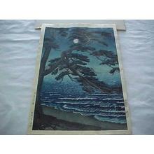Toko: Moon at Enoshima Beach — 月夜の江の嶋 - Japanese Art Open Database