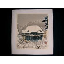 Tokuriki Tomikichiro: Kiyomizu Temple In Snow - Japanese Art Open Database