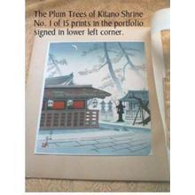 Tokuriki Tomikichiro: Plum Trees of Kitano Shrine - Japanese Art Open Database