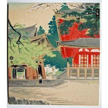 Tokuriki Tomikichiro: Mt Hiei in Spring — 比叡山の春 - Japanese Art Open Database
