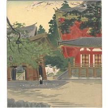 徳力富吉郎: Mt Hiei in Spring — 比叡山の春 - Japanese Art Open Database