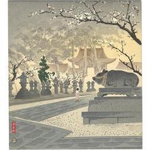 Tokuriki Tomikichiro: Plum Trees at Kitano Shrine — 北野神社の梅 - Japanese Art Open Database