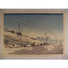 Tokuriki Tomikichiro: Fine Weather After The Storm In Ockanomizu- Tokyo — 東京茶ノ水 - Japanese Art Open Database