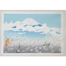 Tokuriki Tomikichiro: Fuji from Akinono — 秋の野の冨士 - Japanese Art Open Database