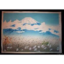 徳力富吉郎: Fuji from Akinono — 秋の野の冨士 - Japanese Art Open Database