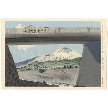 徳力富吉郎: Fuji from Bridge - Japanese Art Open Database