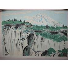 Tokuriki Tomikichiro: Fuji from Shiroito Waterfall — 白糸瀧の冨士 - Japanese Art Open Database