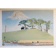 徳力富吉郎: Harvest in Autumn - Japanese Art Open Database