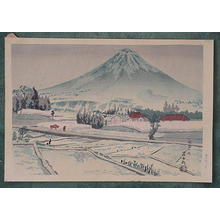 徳力富吉郎: Mt. Fuji in the rain - Japanese Art Open Database