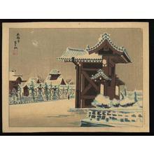 Tokuriki Tomikichiro: Hongan Temple - Japanese Art Open Database
