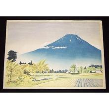 Tokuriki Tomikichiro: Mt Fuji from Gotenba in Summer — 御殿場夏の富士 - Japanese Art Open Database