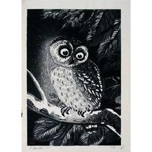 Tokuriki Tomikichiro: Owl - Japanese Art Open Database
