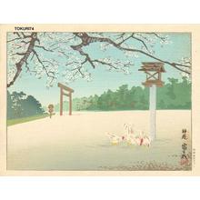 徳力富吉郎: Shin-En Shrine — 神苑 - Japanese Art Open Database