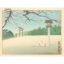 徳力富吉郎: Shin-En Shrine — 神苑 - Japanese Art Open Database