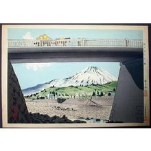 Tokuriki Tomikichiro: Unknown - Fuji and Bridge - Japanese Art Open Database