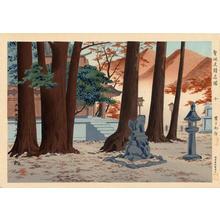 Tokuriki Tomikichiro: Yamato Kawakami Shrine — 大和丹生川上神社 - Japanese Art Open Database