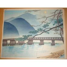 Tokuriki Tomikichiro: Autumn at Arashiyama — 秋の嵐山 - Japanese Art Open Database