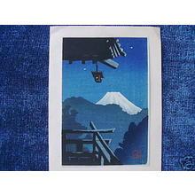 Tomoichi Fujisawa: Mt Fuji from Temple Balcony - Japanese Art Open Database