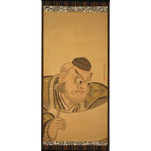 Torii Kiyomine: The Warrior Benkei (Painting on Silk) — 弁慶 - Japanese Art Open Database
