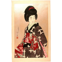 鳥居言人: Sash- Obi- V1 - Japanese Art Open Database