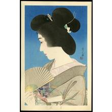 鳥居言人: Summer Geisha- Natsuko — 夏妓 - Japanese Art Open Database