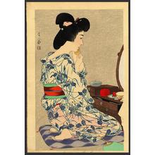 Torii Kotondo: Summer Kimono - Ayame Yukata — 菖蒲ゆかた - Japanese Art Open Database