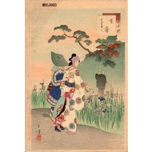 Mizuno Toshikata: Iris Garden — 菖蒲 - Japanese Art Open Database