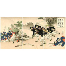 Mizuno Toshikata: Five Japanese Soldiers - Japanese Art Open Database