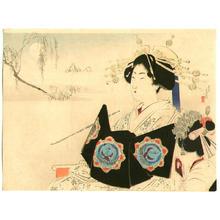 Mizuno Toshikata: Smoking Beauty - Japanese Art Open Database