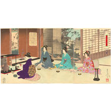 Mizuno Toshikata: Tea ceremony - Japanese Art Open Database