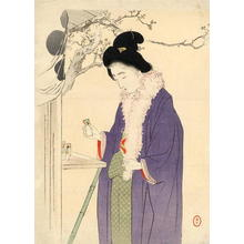 水野年方: Woman Visiting a Temple in the New Year - Japanese Art Open Database
