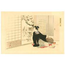 水野年方: 12- Snowy Garden - Japanese Art Open Database