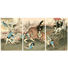 Toshimitsu Kobayashi: Fierce Battle at Pyongyang - Japanese Art Open Database
